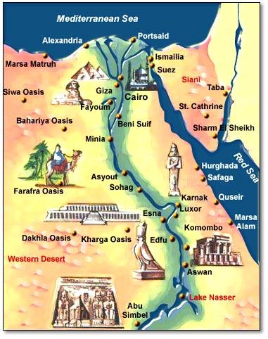 Viamed Egypt Travel Agent In EgyptCairo Alex Luxor Aswan Red - Map of egypt nile